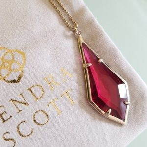 Kendra Scott Clear Berry Damon necklace